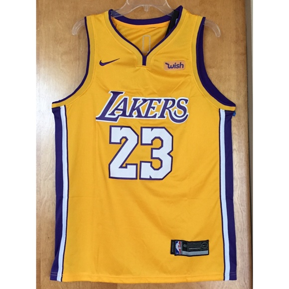 low priced c35db 92365 100% STITCHED LEBRON JAMES LAKERS GOLD JERSEY NWT